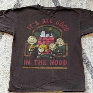 Peanuts Snoopy All Good In The Hood T-shirt Size M